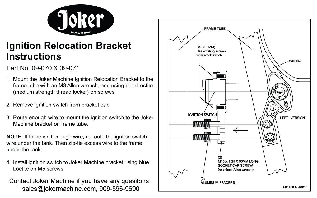 Joker machine ignition switch relocation bracket for triumph 2000 resources swarovskicordoba Choice Image