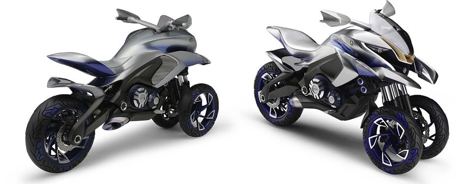 "Yamaha ""01GEN"" three-wheel dual-sport concept bike"