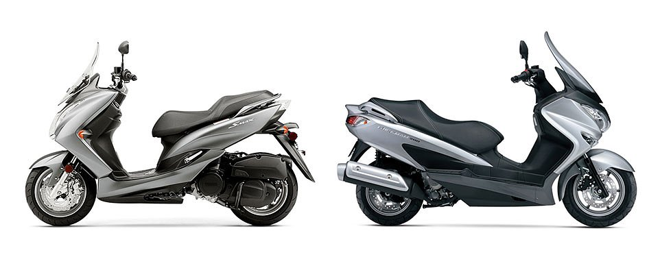 Scooter battle: 2015 Yamaha SMAX vs. 2014 Suzuki Burgman 200