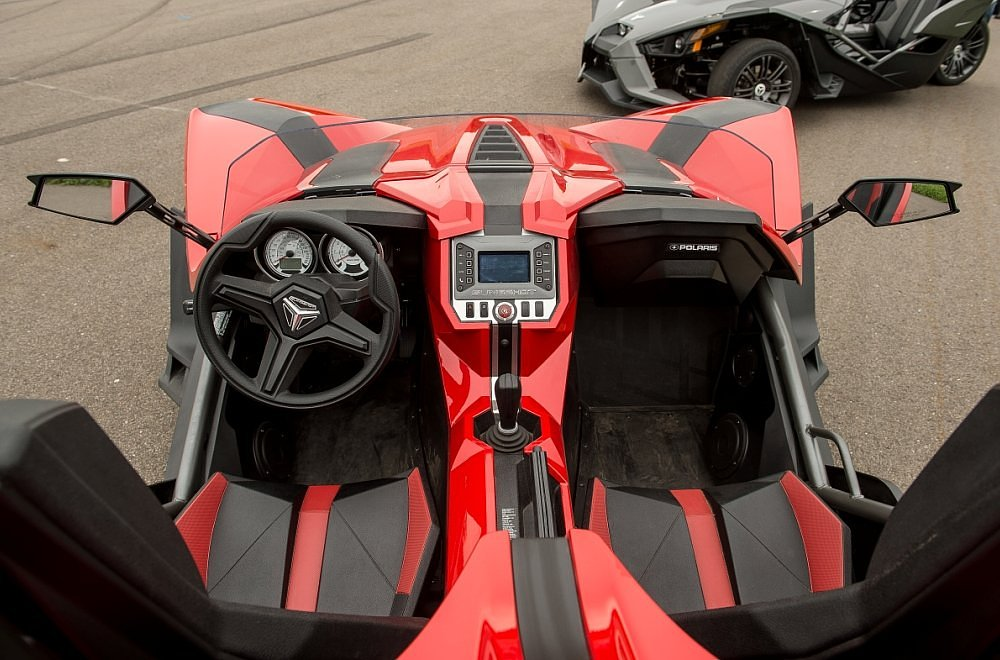 Polaris Slingshot cockpit
