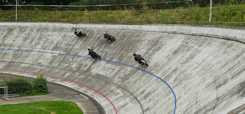American-style board-track racing experiences a revival in Europe