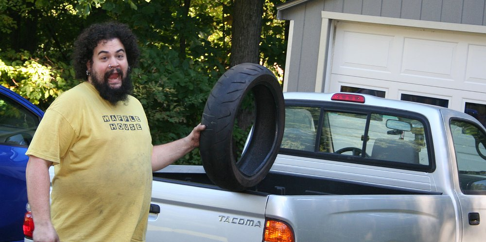 How to change your own motorcycle tires