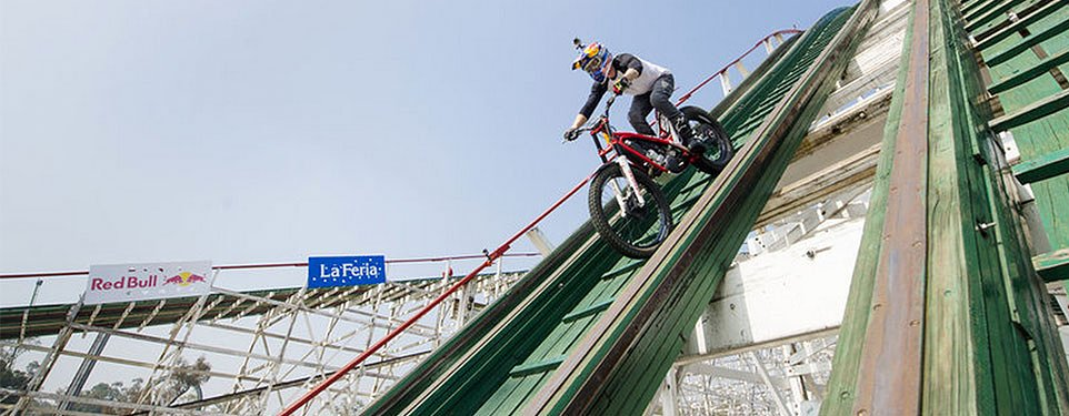Video: Red Bull, a trials bike, and a roller coaster