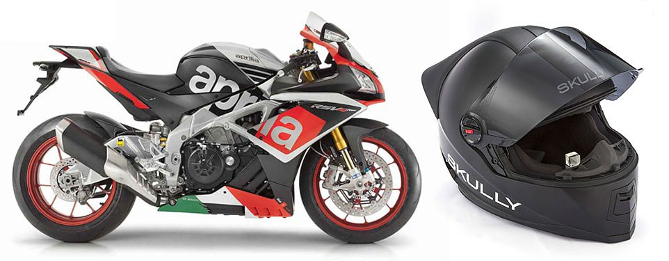 Skully and Aprilia form partnership
