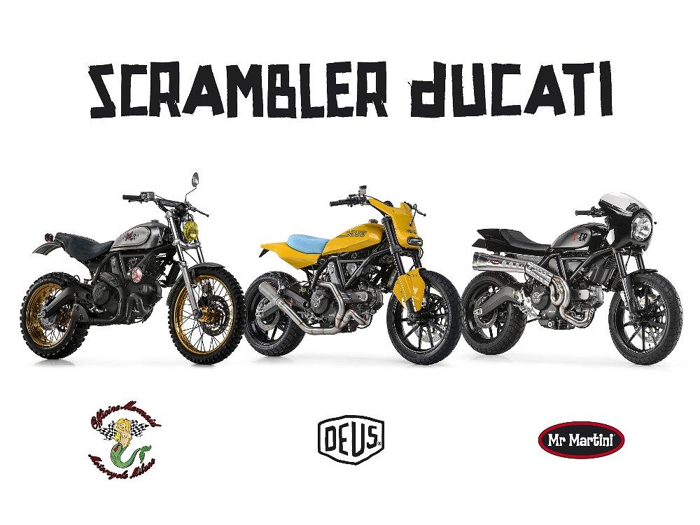 custom Ducati Scramblers