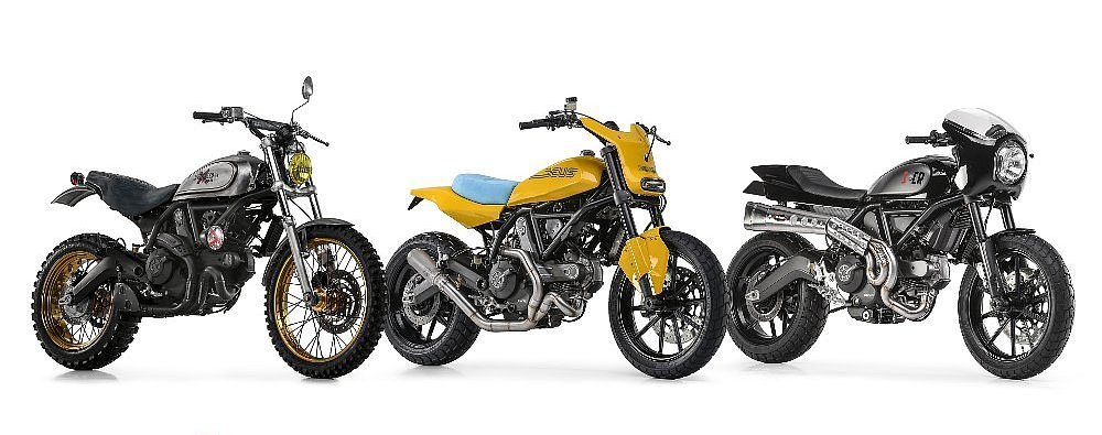 First Ducati Scrambler customs unveiled