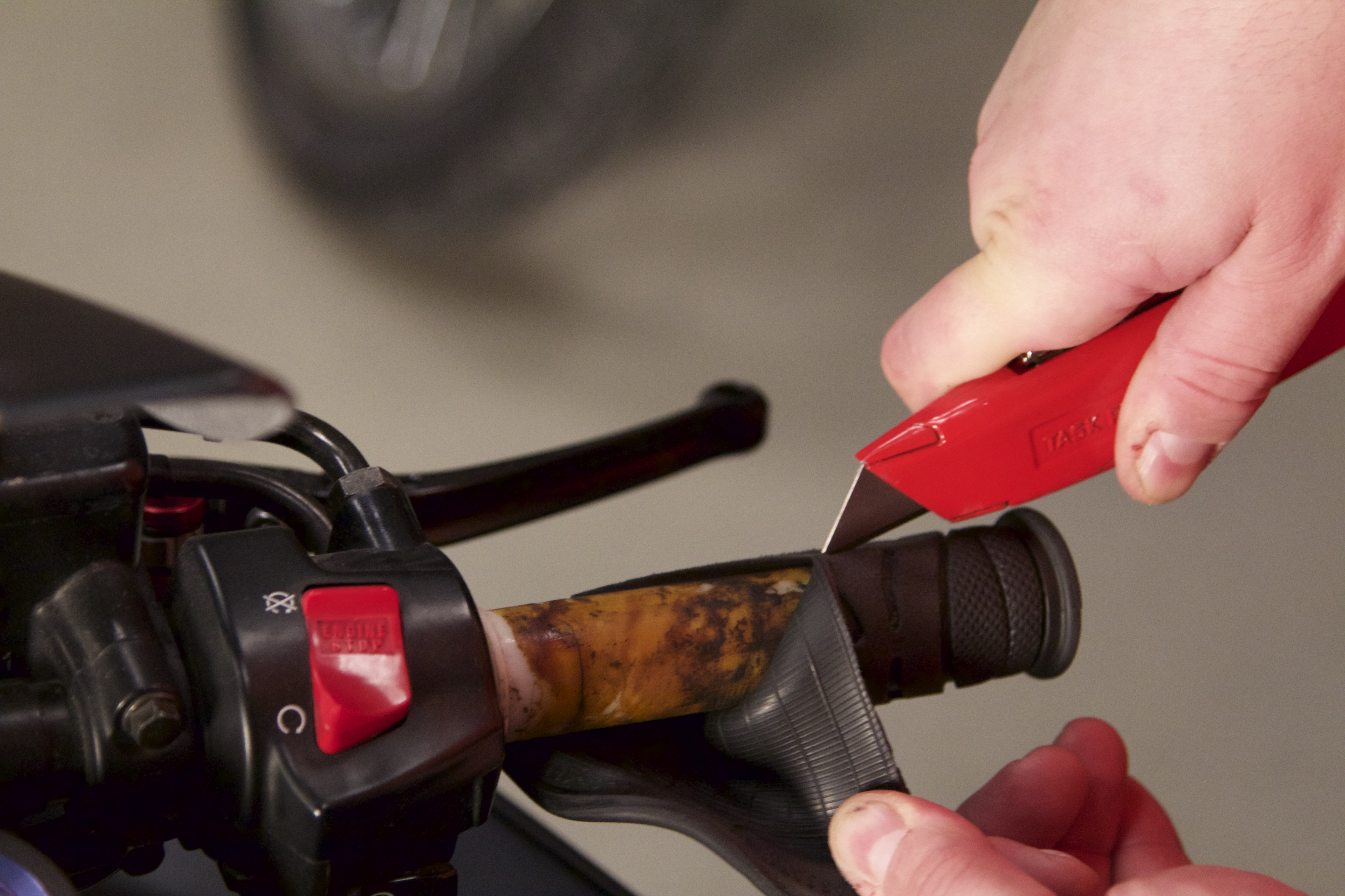 Wiring A 2 Way Pull Cord Switch Grips Tips How To Install New Hand On Your Motorcycle Revzilla
