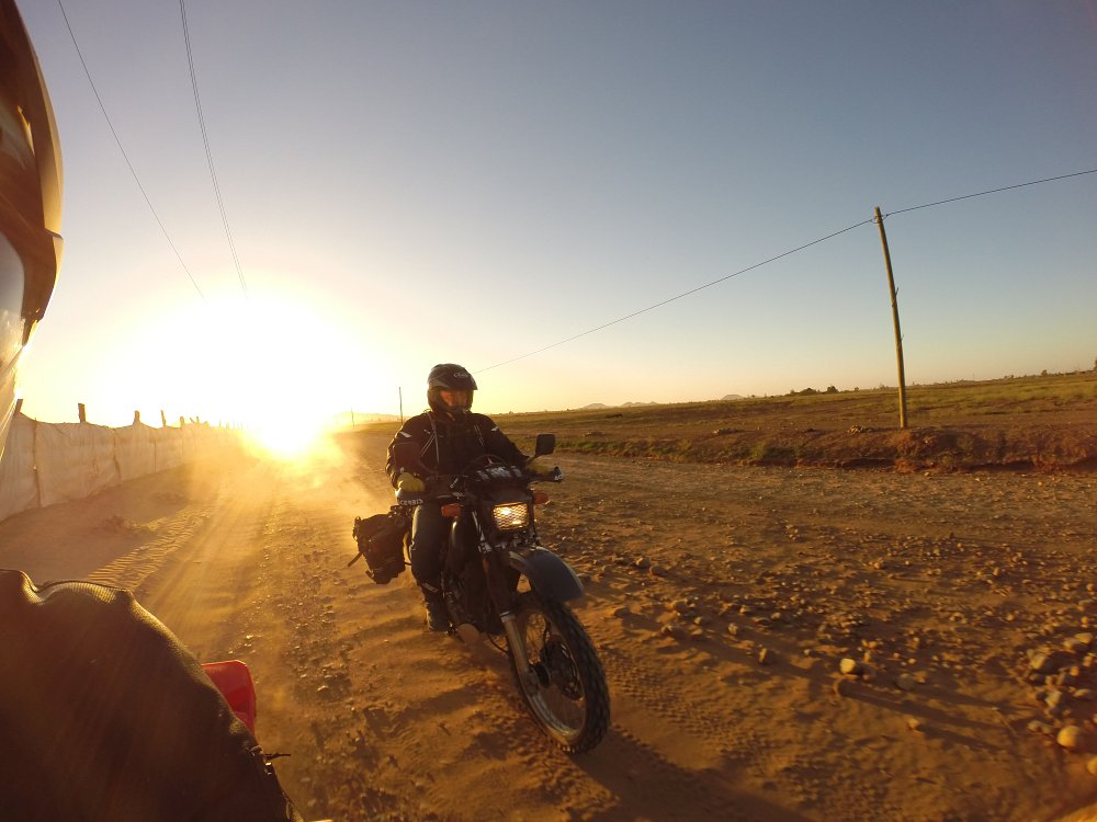 riding at sunset
