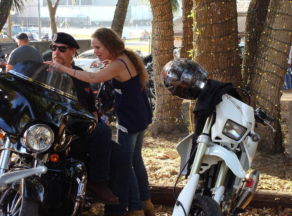 couple at Bike Week