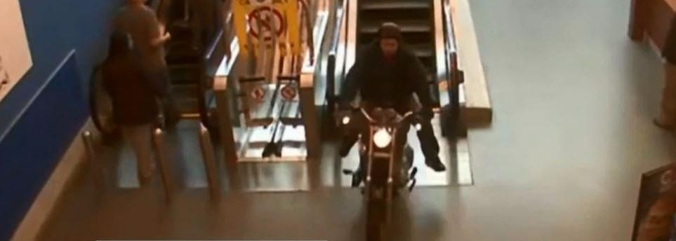 Video: Canadian biker on the run flees through Walmart