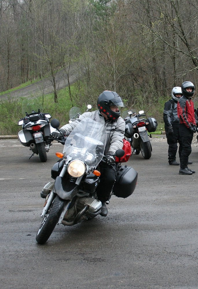 practicing riding skills