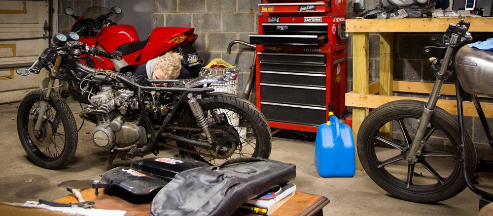 Kickstarters and beer: How she got her vintage Honda in my garage