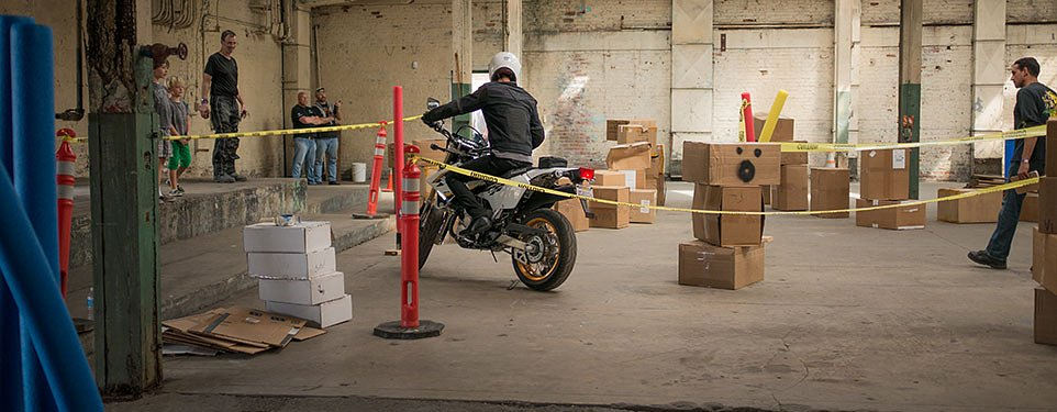 Aether Urban Adventure 2015: Multistrada down and a battle in the warehouse