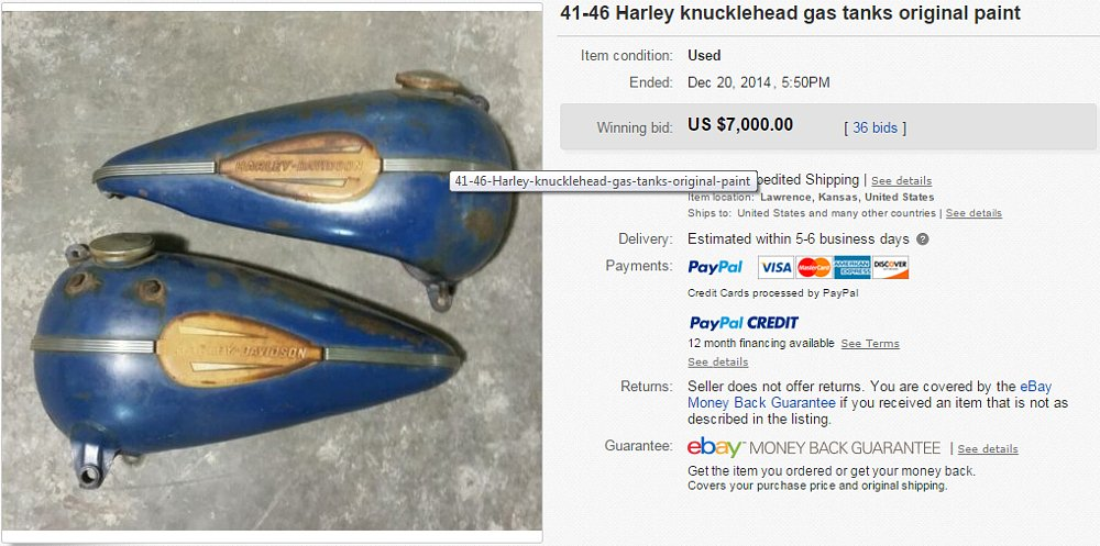 gas tanks on eBay