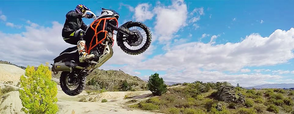 Video: Chris Birch riding an 1190 like a dirt bike