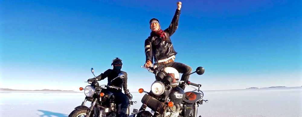 Video: a father, son, motorcycles, and one of the world's unique places