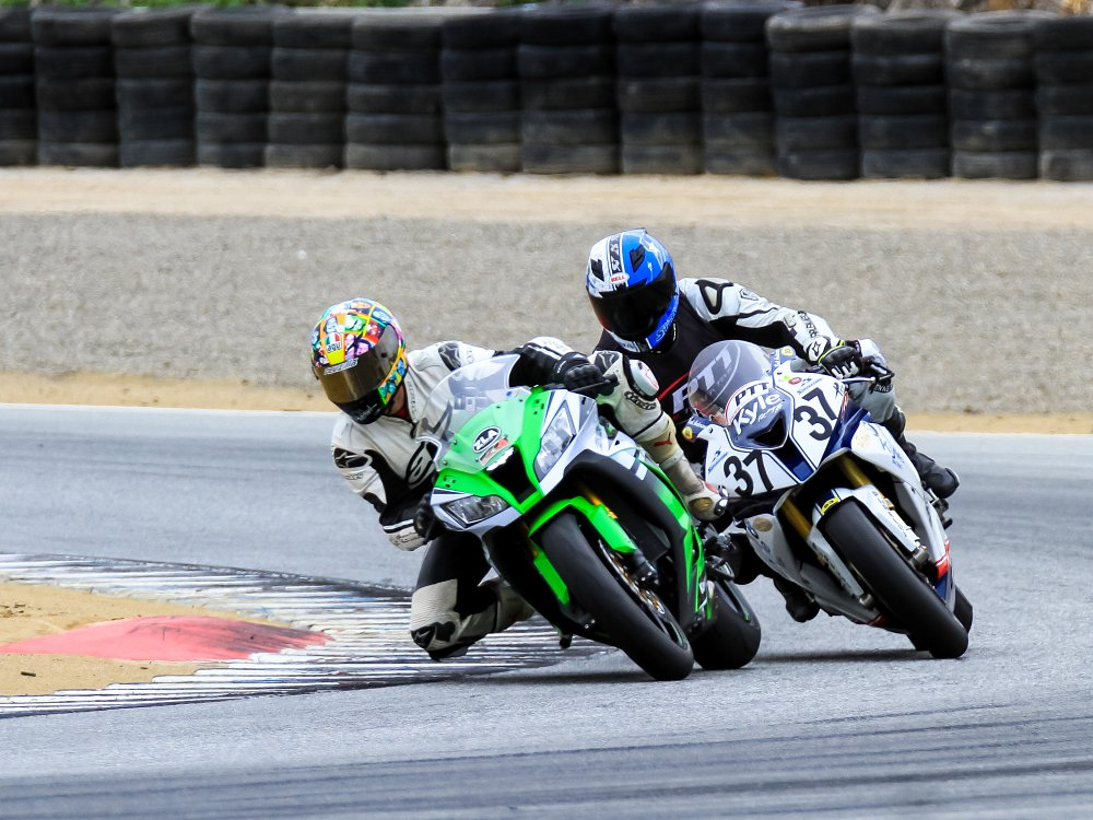 Riding the ZX-10R at Laguna Seca