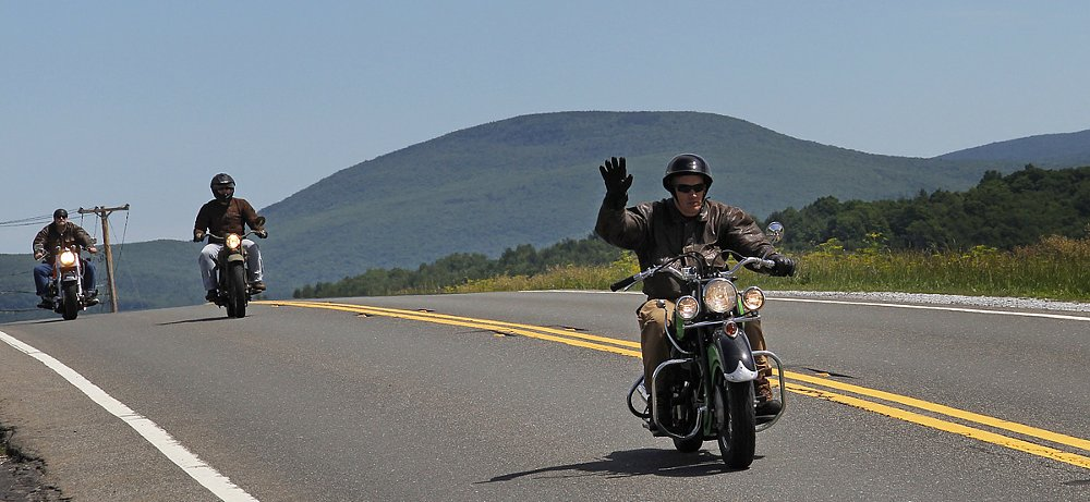 Where 70-year-old motorcycles don't pose, they hit the road