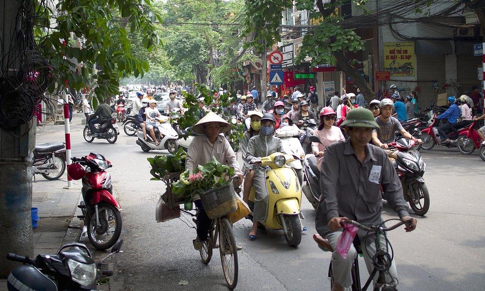Vietnam city riding