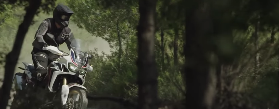 Honda Africa Twin filmed in the wild