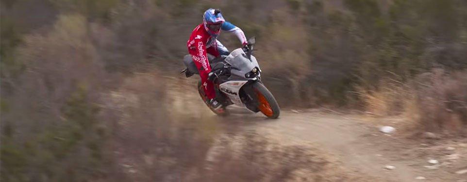 Video: Aaron Gwin takes the KTM RC390 downhill mountain biking