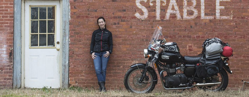 One woman, one motorcycle, one year, one record