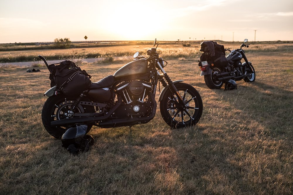 Harley-Davidson Iron 883 and Fat Boy S