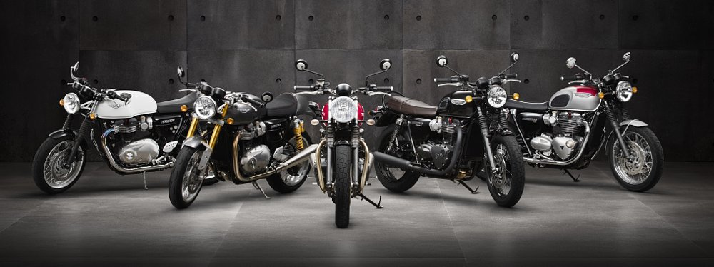 New Triumph Models: Thruxton R, Street Twin, and T120 announced