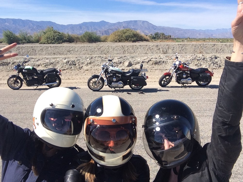 Babes Ride Out selfie