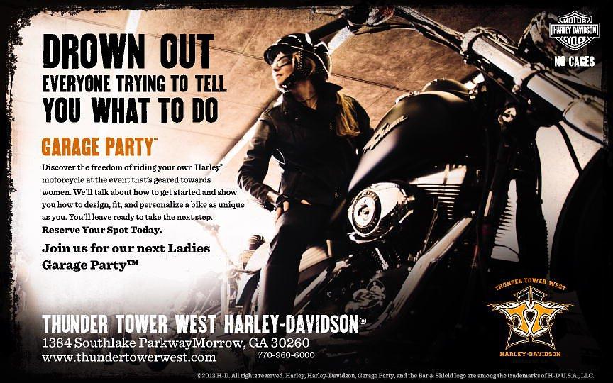 Harley-Davidson Garage Party ad
