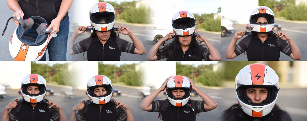 how to put on a helmet