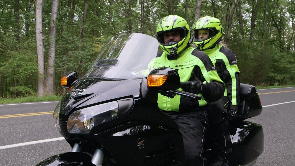 two up riding the Gold Wing
