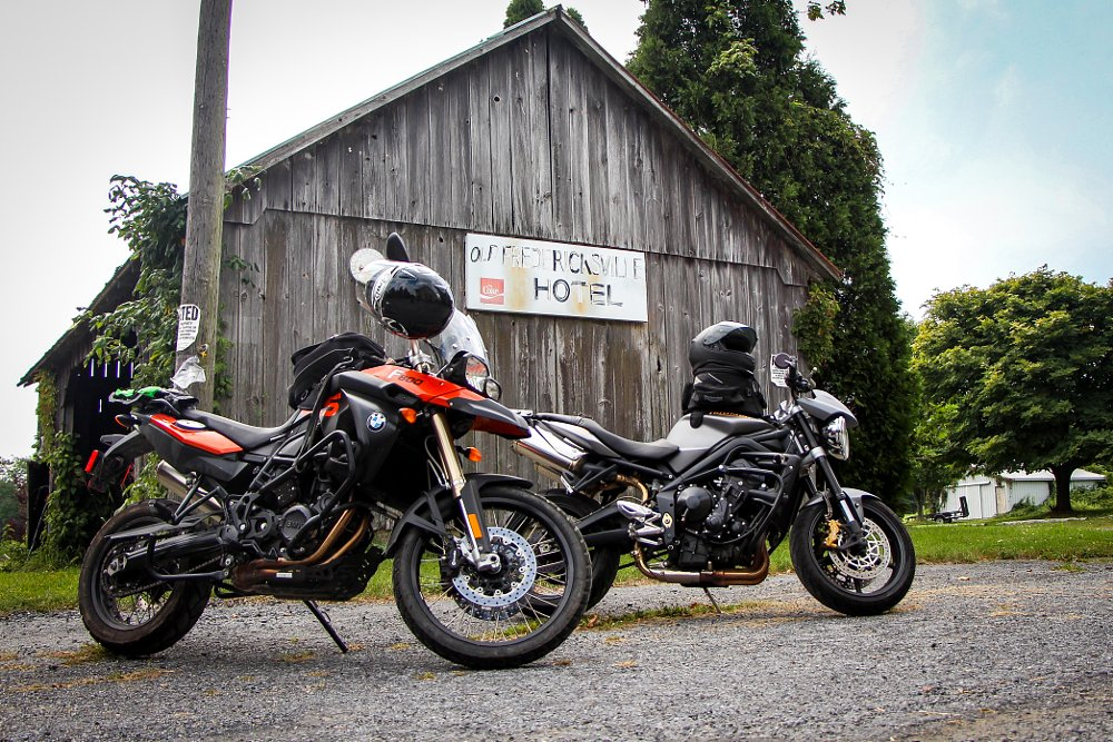 Triumph Street Triple R and BMW F 800 GS