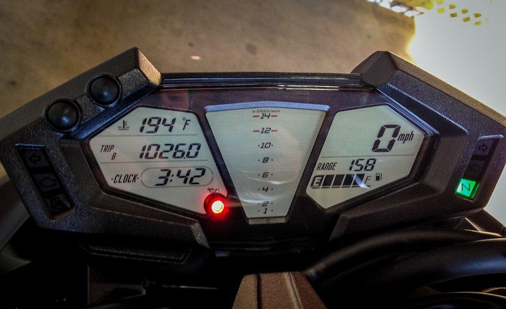 Kawasaki Z800 Dash