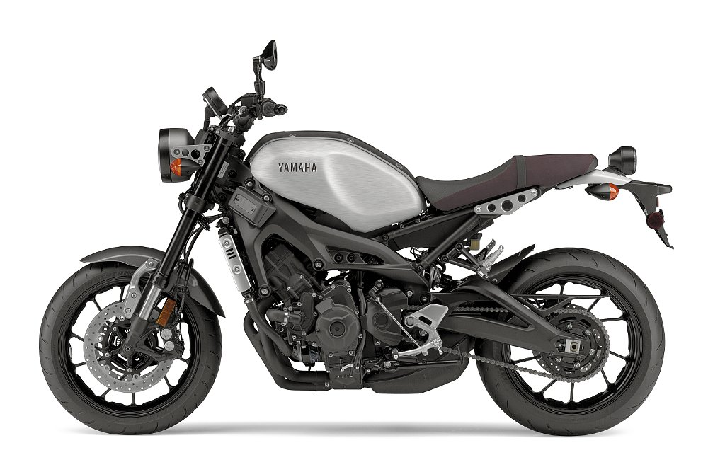 matte gray and aluminum Yamaha XSR900