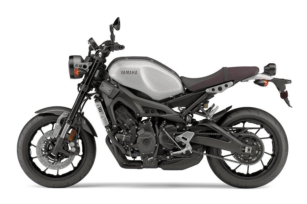 matte gray and aluminum Yamaha XSR900
