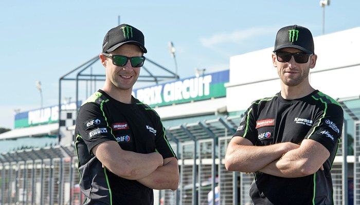Tom Sykes and Jonathan Rea