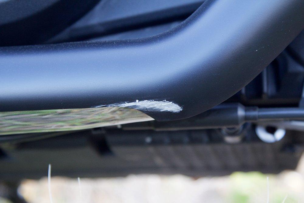 scraped exhaust
