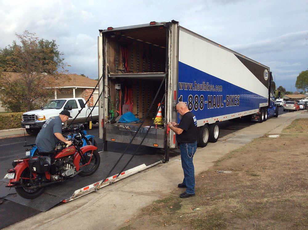 loading motorcycles