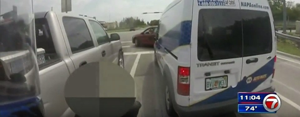 Video: How not to handle road rage