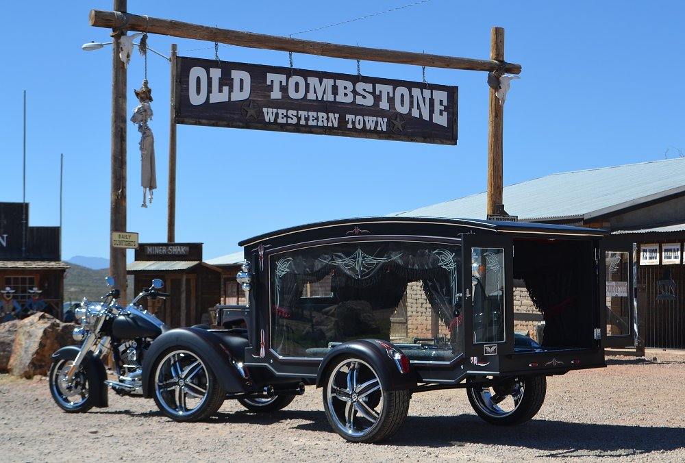 Tombstone Motorcycle Hearse