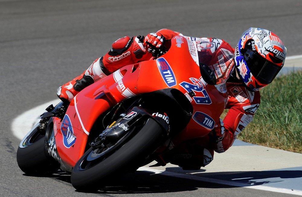 Casey Stoner on a Ducati