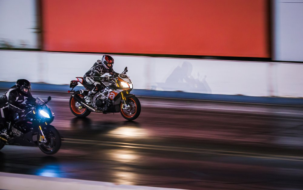 Aprilia Tuono at the drag strip