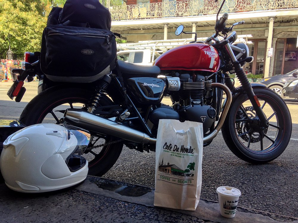 Spurgeon Dunbar Triumph Bonneville Street Twin Cafe Du Monde
