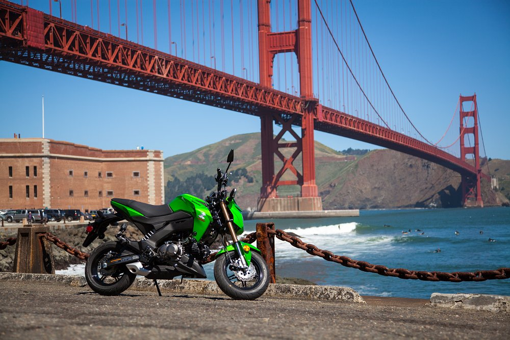 Kawasaki Z125 Pro Golden Gate Bridge