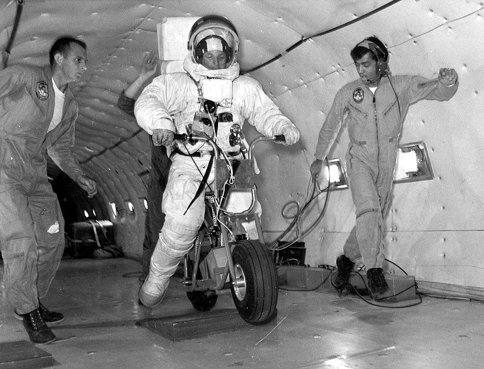minibike test on the Vomit Comet