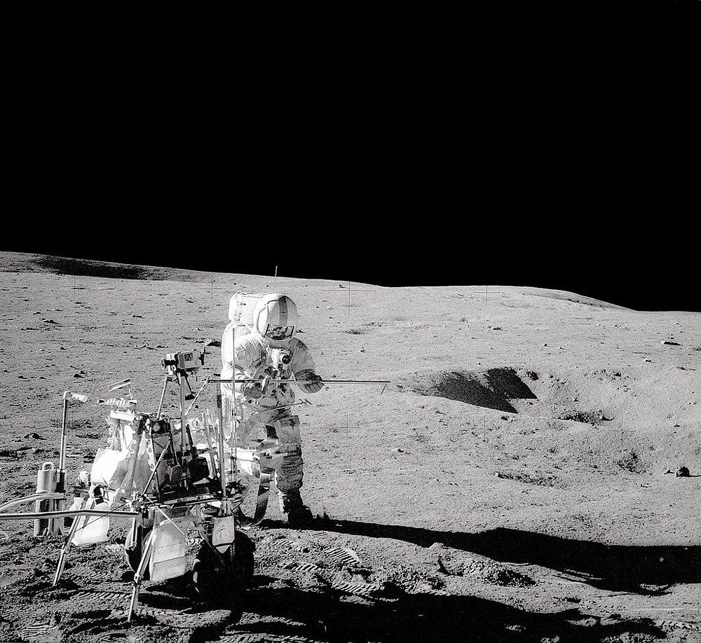 Modular Equipment Transporter on the moon