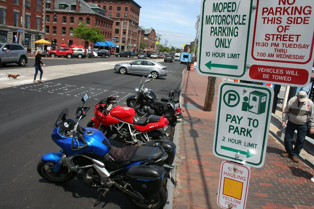 Portland, Maine, motorcycle parking
