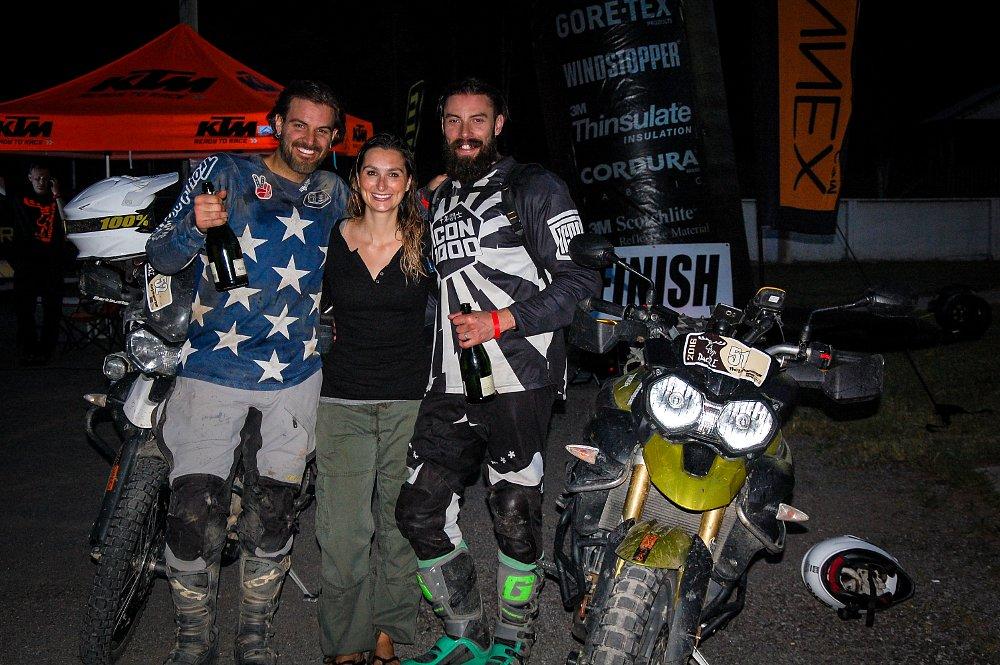 Spurgeon Dunbar, Steve Kamrad, Amelia Kamrad, Triumph Tiger 800