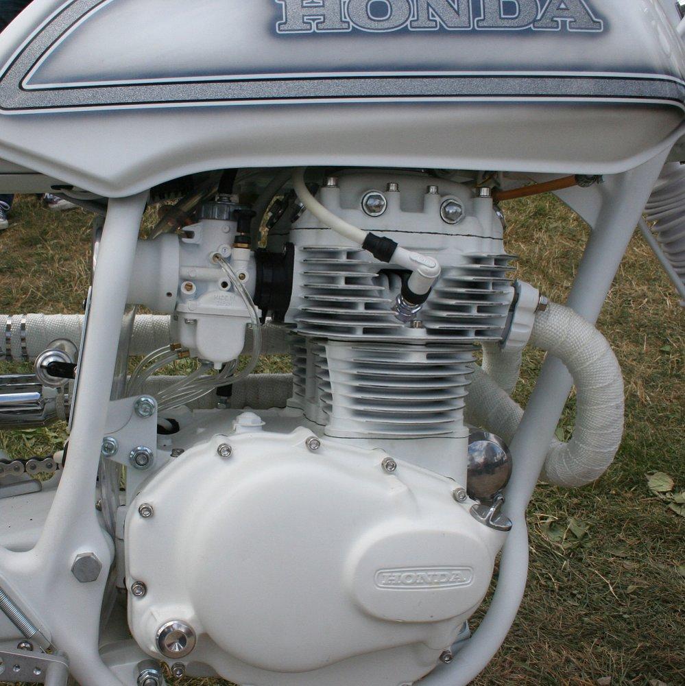 Custom white CB360